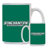 Full Color White Mug 15oz-Binghamton University Flat