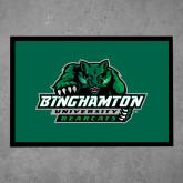Full Color Indoor Floor Mat-Binghamton University Bearcats Official Logo