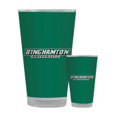 Full Color Glass 17oz-Binghamton University Flat
