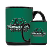 Full Color Black Mug 15oz-Binghamton University Bearcats Official Logo