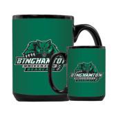 Full Color Black Mug 15oz-Binghamton University Bearcats Official Logo