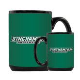 Full Color Black Mug 15oz-Binghamton University Flat