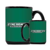 Full Color Black Mug 15oz-Binghamton University Flat