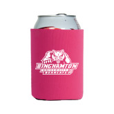 Neoprene Hot Pink Can Holder-Binghamton University Bearcats Official Logo