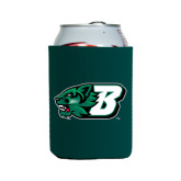 Collapsible Green Can Holder-Bearcat Head w/ B