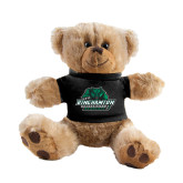 Plush Big Paw 8 1/2 inch Brown Bear w/Black Shirt-Binghamton University Bearcats Official Logo