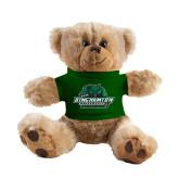 Plush Big Paw 8 1/2 inch Brown Bear w/Dark Green Shirt-Binghamton University Bearcats Official Logo