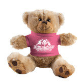 Plush Big Paw 8 1/2 inch Brown Bear w/Pink Shirt-Binghamton University Bearcats Official Logo