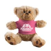 Plush Big Paw 8 1/2 inch Brown Bear w/Pink Shirt-Binghamton University Bearcats Official Logo
