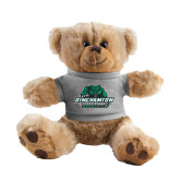 Plush Big Paw 8 1/2 inch Brown Bear w/Grey Shirt-Binghamton University Bearcats Official Logo