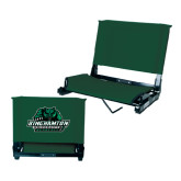 Stadium Chair Dark Green-Binghamton University Bearcats Official Logo
