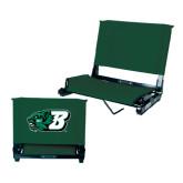 Stadium Chair Dark Green-Bearcat Head w/ B