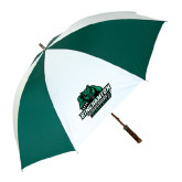 62 Inch Forest Green/White Umbrella-Binghamton University Bearcats Official Logo