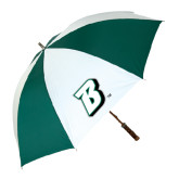 62 Inch Forest Green/White Umbrella-B