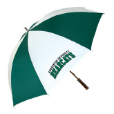 62 Inch Forest Green/White Umbrella-Arched Binghamton University Bearcats
