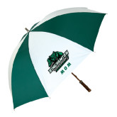 62 Inch Forest Green/White Umbrella-Mom