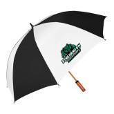 62 Inch Black/White Umbrella-Binghamton University Bearcats Official Logo