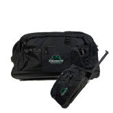 Urban Passage Wheeled Black Duffel-Binghamton University Bearcats Official Logo