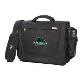 High Sierra Black Upload Business Compu Case-Binghamton University Bearcats Official Logo