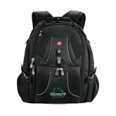 Wenger Swiss Army Mega Black Compu Backpack-Binghamton University Bearcats Official Logo