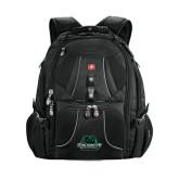 Wenger Swiss Army Mega Black Compu Backpack-Binghamton University Bearcats Official Logo