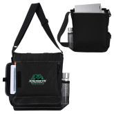 Impact Vertical Black Computer Messenger Bag-Binghamton University Bearcats Official Logo