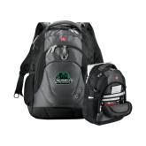Wenger Swiss Army Tech Charcoal Compu Backpack-Binghamton University Bearcats Official Logo