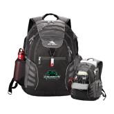 High Sierra Big Wig Black Compu Backpack-Binghamton University Bearcats Official Logo