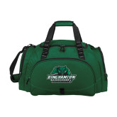 Challenger Team Dark Green Sport Bag-Binghamton University Bearcats Official Logo