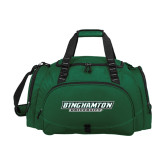 Challenger Team Dark Green Sport Bag-Binghamton University Flat