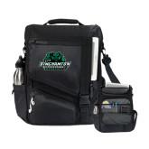 Momentum Black Computer Messenger Bag-Binghamton University Bearcats Official Logo
