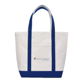 Contender White/Navy Canvas Tote-Baker and Taylor