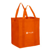 Non Woven Orange Grocery Tote-Collection HQ