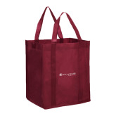 Non Woven Maroon Grocery Tote-Baker and Taylor