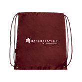 Maroon Drawstring Backpack-Baker and Taylor