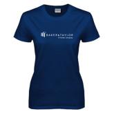 Ladies Navy T Shirt-Baker and Taylor