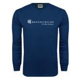 Navy Long Sleeve T Shirt-Baker and Taylor