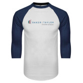 White/Navy Raglan Baseball T-Shirt-Baker and Taylor
