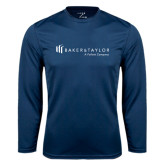 Performance Navy Longsleeve Shirt-Baker and Taylor