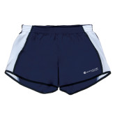 Ladies Navy/White Team Short-Baker and Taylor