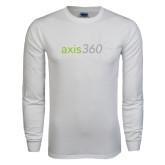 White Long Sleeve T Shirt-Axis 360