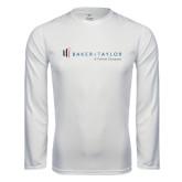 Performance White Longsleeve Shirt-Baker and Taylor