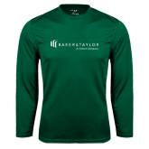 Performance Dark Green Longsleeve Shirt-Baker and Taylor