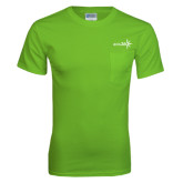 Lime Green T Shirt w/Pocket-Axis 360