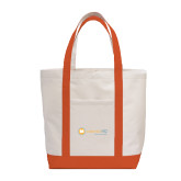 Contender White/Orange Canvas Tote-Collection HQ