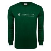 Dark Green Long Sleeve T Shirt-Baker and Taylor