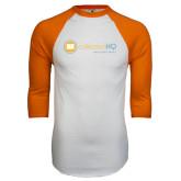 White/Orange Raglan Baseball T Shirt-Collection HQ