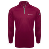 Under Armour Maroon Tech 1/4 Zip Performance Shirt-Baker and Taylor