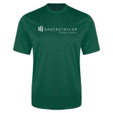 Performance Dark Green Heather Contender Tee-Baker and Taylor