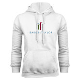 White Fleece Hoodie-Baker and Taylor Stacked